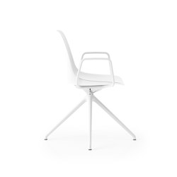 Saint 4 Star Swivel with arms and upholstered seat pad   Chairs   Boss Design
