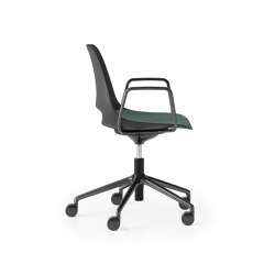Saint 5 Star Height Adjustable with Tilt and Loop Arm, Upholstered Seat | Sedie | Boss Design