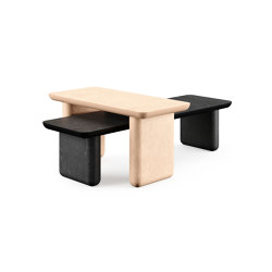 Caillou Wood Bench | Side tables | Liu Jo Living