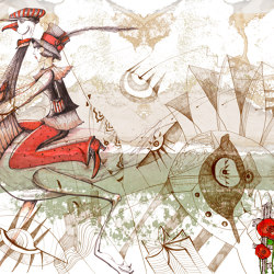 Prelude to a tale | Girl from Wonderland | Wall coverings / wallpapers | Walls beyond