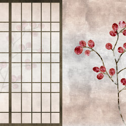 Scent of silence   May in Kyoto   Wall coverings / wallpapers   Walls beyond