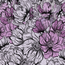 Scent of silence | Tender is the night_mauve | Wall coverings / wallpapers | Walls beyond