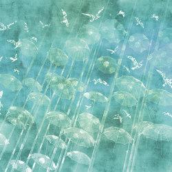 Spectre   Rain, rain, come and play..._tiffany blue   Revêtements muraux / papiers peint   Walls beyond