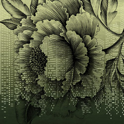 Tender is the urban   Urban flower_gold   Wall coverings / wallpapers   Walls beyond