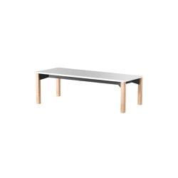 iLAIK bench 120 - white/angular/oak | Panche | LAIK