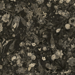 Wallpaper Gold | Botanica Black&White Antique Gold | Wall coverings / wallpapers | Devon&Devon