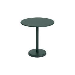 "Linear Steel | Café Table | Ø 70 h: 73 cm / 27.6 h: 28.7"" | Bistro tables | Muuto"