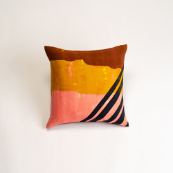 Keikoroll Katsura thick stripes cushion | Cushions | Hiyoshiya
