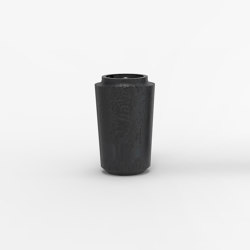 Makino black and dark red urushi textured vases | Vases | Hiyoshiya