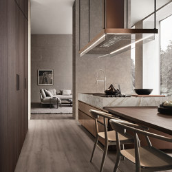 Convivium, built-in table | Fitted kitchens | Arclinea