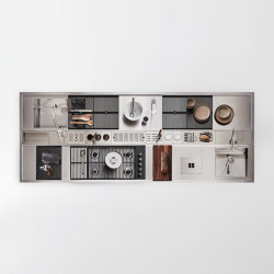 Worktop with Accessorised Channel | Kitchen organization | Arclinea