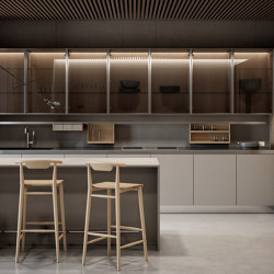 Gamma glass wall units | Fitted kitchens | Arclinea