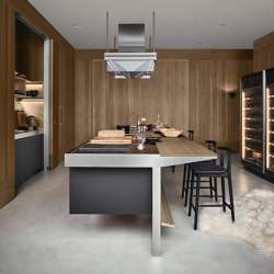Lignum et Lapis, Modus Doors System | Island kitchens | Arclinea