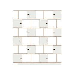 Shelf PIX6 200cm, white film plywood   Shelving   Radis Furniture