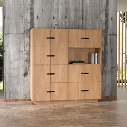 Sideboard PIX 4x4 oak veneered   Sideboards   Radis Furniture