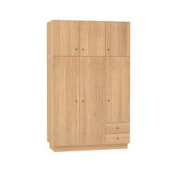 Wardrobe HUH with 3 doors and extra level oak veneered | Cabinets | Radis Furniture
