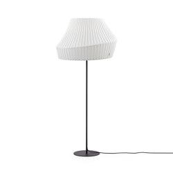 Pleat Floor, large, white | Free-standing lights | Hollands Licht