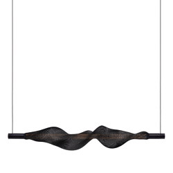 Vapour horizontal, black   Suspended lights   Hollands Licht