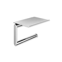 Toilet roll holder with shelf | Portarotolo | HEWI