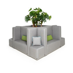 Gastro System | Cube S with soundproofing walls | Seating islands | IKONO
