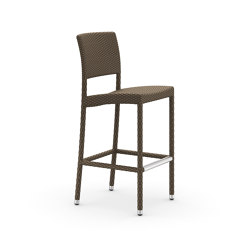 HOLIDAY Barstool incl. Aluminium Footrest | Bar stools | DEDON