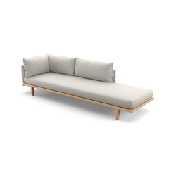 SEALINE Extended Daybed right | Lettini / Lounger | DEDON