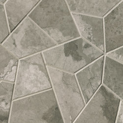 Kamu Grey Fly Mosaico 25X41,5 | Ceramic tiles | Fap Ceramiche