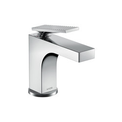 AXOR Citterio Single lever basin mixer 90 with lever handle for hand washbasins with pop-up waste set - rhombic cut | Wash basin taps | AXOR