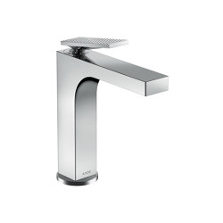 AXOR Citterio Single lever basin mixer 160 with lever handle and pop-up waste set - rhombic cut | Wash basin taps | AXOR