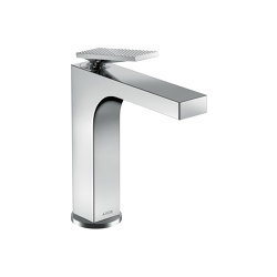 AXOR Citterio Single lever basin mixer 160 with lever handle and waste set - rhombic cut   Wash basin taps   AXOR
