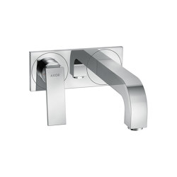 AXOR Citterio Single lever basin mixer for concealed installation wall-mounted with lever handle, spout 220 mm and plate | Wash basin taps | AXOR