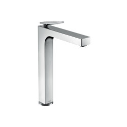 AXOR Citterio Single lever basin mixer 280 with lever handle for wash bowls with waste set - rhombic cut | Wash basin taps | AXOR