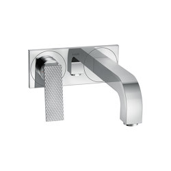 AXOR Citterio Single lever basin mixer for concealed installation wall-mounted with lever handle, spout 220 mm and plate - rhombic cut | Wash basin taps | AXOR