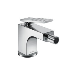 AXOR Citterio Single lever bidet mixer with lever handle and pop-up waste set - rhombic cut | Bidet taps | AXOR