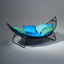 Melon Hammock Lounger Chair on Base stand | Sun loungers | Studio Stirling