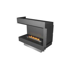 Forma 1000 Left Corner | Fireplace inserts | Planika