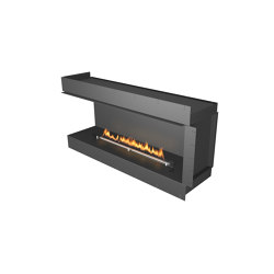 Forma 1500 Left Corner | Fireplace inserts | Planika