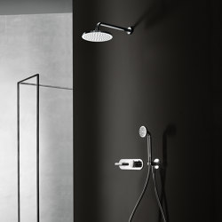 Icona Deco | 3/4'' built-in thermostatic shower mixer - shower arm - Rain showerhead - Shower set | Shower controls | Fantini