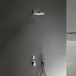 Mare   Built-in shower mixer - shower arm - Rain showerhead - Shower set   Shower controls   Fantini