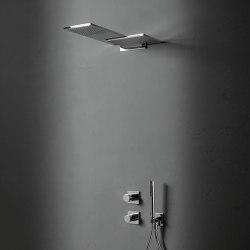 Milano | Built-in shower mixer - Double showerhead - Shower set | Shower controls | Fantini