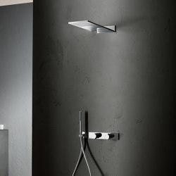 Milano | Rain showerhead - 3/4'' built-in thermostatic shower mixer - Shower set | Shower controls | Fantini