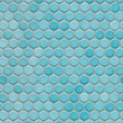 Loop | aqua blue glossy | Ceramic mosaics | AGROB BUCHTAL