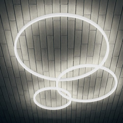Luce ad anello a LED TheO 1750 Lampada da soffitto | Lampade plafoniere | leuchtstoff
