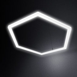 LED Hexagon light TheX 1500 pendant light | Suspended lights | leuchtstoff