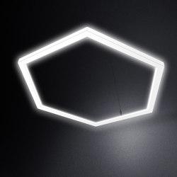 LED Hexagon light TheX 1750 pendant light | Suspended lights | leuchtstoff