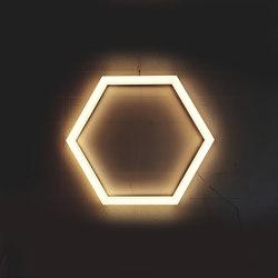 Lampada esagonale TheX 750 Lampada da soffitto | Lampade plafoniere | leuchtstoff