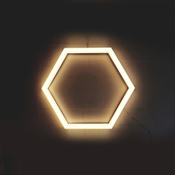 LED Hexagon light TheX Ceiling lamp Special Sizes   Ceiling lights   leuchtstoff