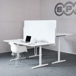 recycled greenPET I designed acoustic deskboard | Sound absorbing table systems | SPÄH designed acoustic