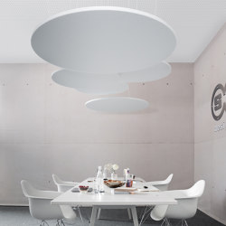 recycled greenPET I designed acoustic circle | Sound absorbing ceiling systems | SPÄH designed acoustic