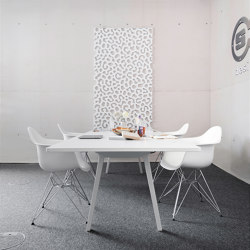 recycled greenPET I designed acoustic divider air blurry | Sound absorbing objects | SPÄH designed acoustic